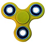 Stages Learning Sensory Builder Finger Fidget Spinner High Speed, Quality Bearing, Stress Reducer for Add, Adhd, Anxiety, Autism, Yellow, 3 x 3''