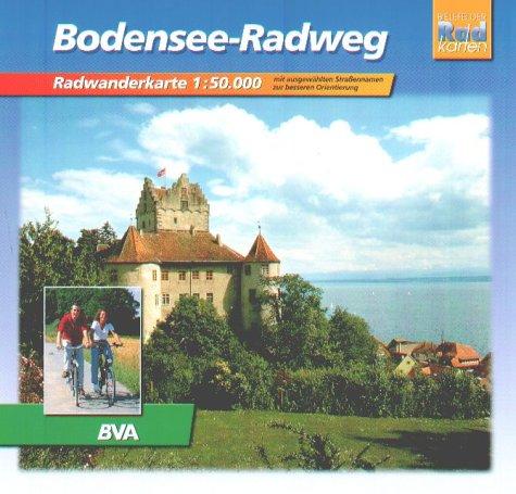 Radwanderkarte Bodenseeradweg: Radwanderführer. Massstab 1:50000