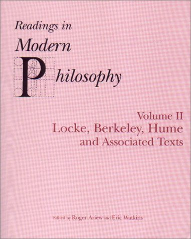 Readings In Modern Philosophy, Volume 2: Locke, Berkeley, Hume and Associated Texts