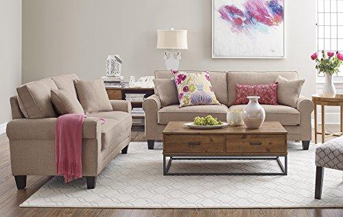 "Serta Deep Seating Copenhagen 61"" Loveseat in Beige -  - sofas-couches, living-room-furniture, living-room - 51FNVHxMoUL -"