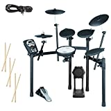 Roland TD-11K Electronic Drum Set Bundle with 3 Pairs of Sticks, Audio Cable, and Polishing Cloth