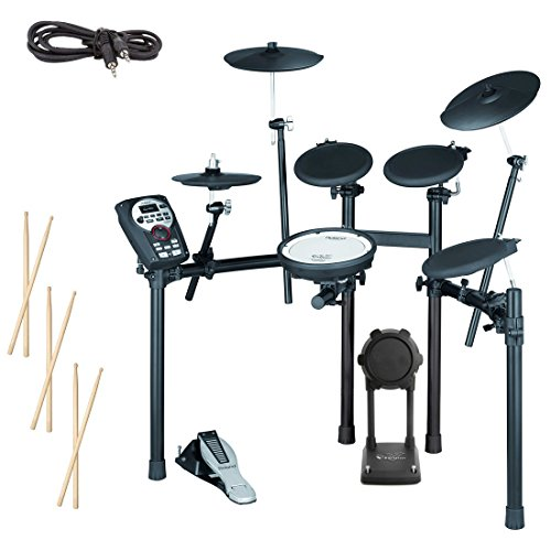 Roland TD-11K Electronic Drum Set Bundle with 3 Pairs of Sticks, Audio Cable, and Polishing Cloth by Roland