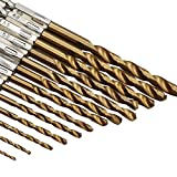 Zuoyou 13pcs HSS Titanium Coated Twist Drills Bit