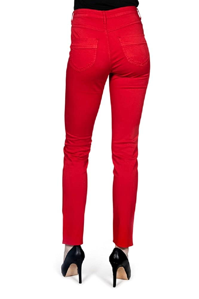 cb9cd10bf84bf Kañopé Mandarine conty pila-Pantalon Toile Coupe Slim-Femme: Amazon.fr:  Vêtements et accessoires