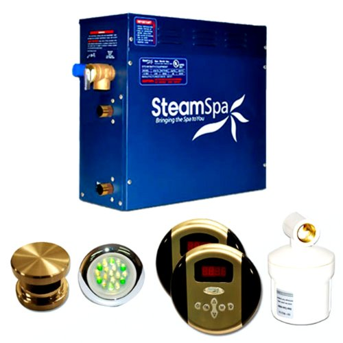 Steam Spa RY1050BNC Royal Complete Package with 10.5kW Steam Generator, Brushed Nickel - Kilowatt Steam Generator