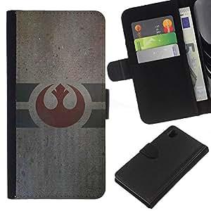 JackGot ( Star Wars Alliance ) Sony Xperia Z1 L39 la tarjeta de Crédito Slots PU Funda de cuero Monedero caso cubierta de piel