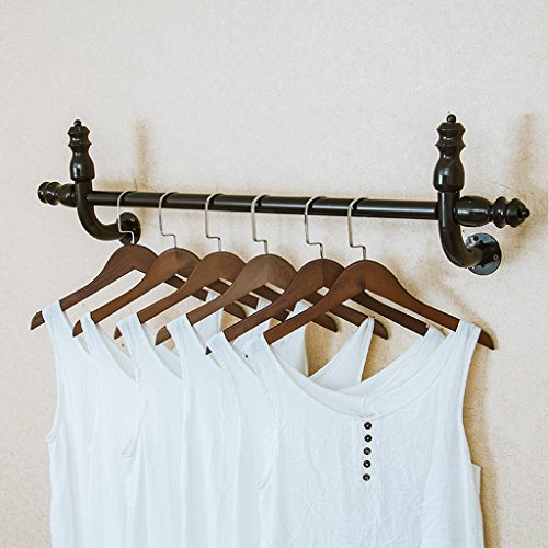 (Qivorcnl Iron Wall Hanging Coat Rack Retro Combination Wall Hanger Partition Hook Hanger Suitable for Living/Bedroom/Study/Clothing Store Black, Gold (80 cm, 100 cm, 120 cm))