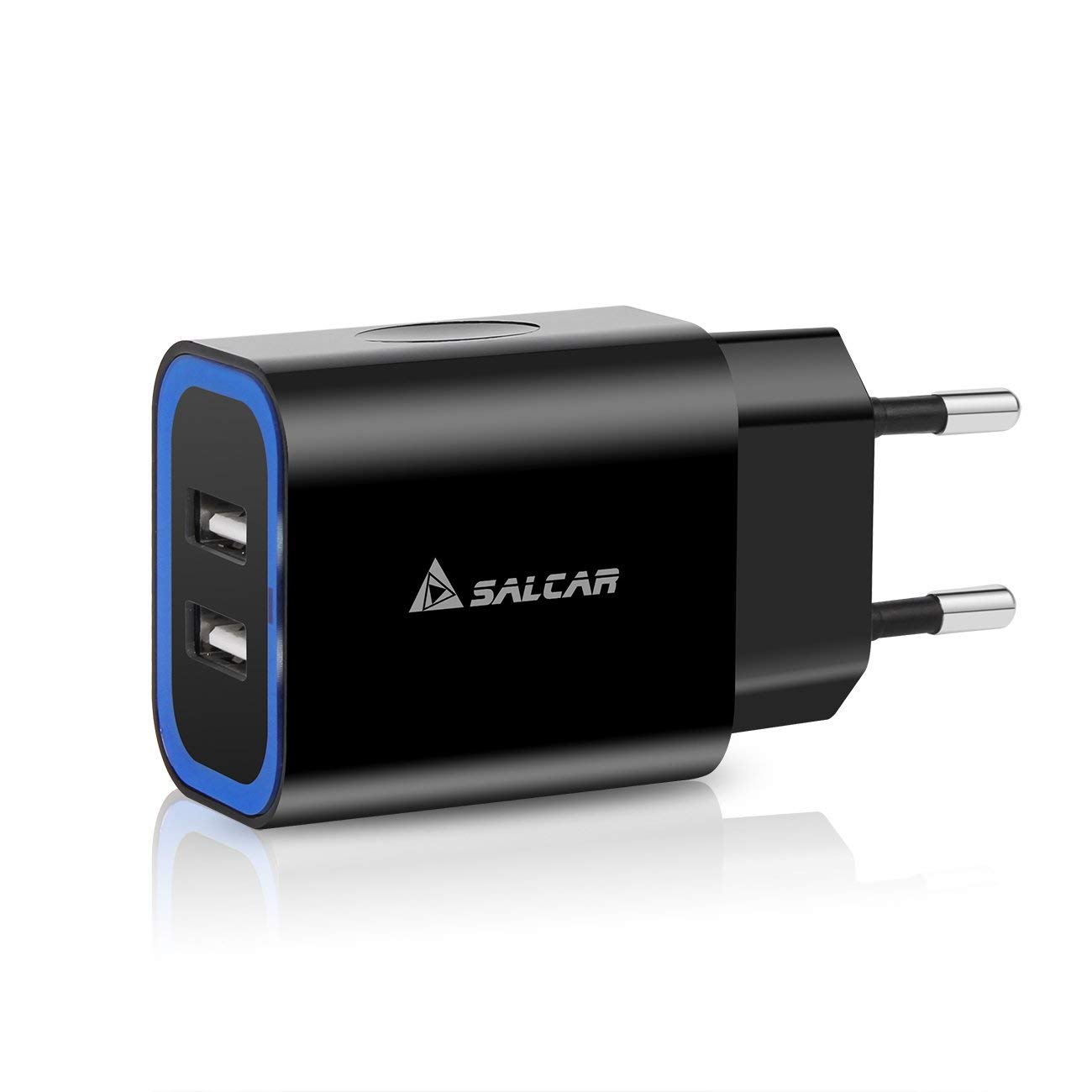 SALCAR 12W Cargador de Pared Coolreall Universal Adaptador de Corriente con 2 Puertos USB 5V 2,4A para iPhone 7 / 7 Plus, iPad Air 2 / mini 3, Samsung ...