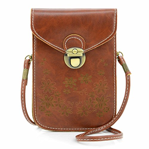U-TIMES Women's Retro Flower Pattern Synthetic Leather Crossbody Shoulder Wallet Bag Cell Phone Pouch for iPhone 6/6S,6Plus/6S Plus,Note 5,Note 4,Galaxy S7,S7 - Women Sunglasses For Whose