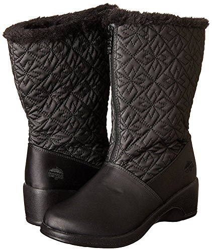 Weather Cold Boots High Toe Joni Womens Totes Black Fabric Knee Round fy08W7WwqO