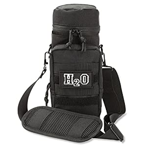 Orca Tactical MOLLE H2O Water Bottle Pouch Hydration Carrier (Black)