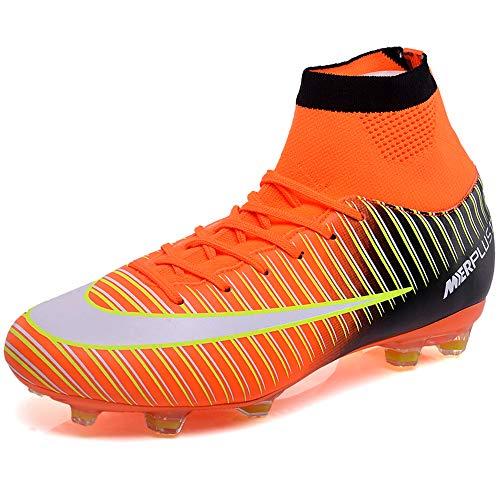 BOLOG Zapatos de Fútbol Hombre Spike Aire Libre Profesionales Atletismo Training Botas de Fútbol Ligero Tacos Futbol…