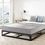 "Mellow Twin 9"" Metal Platform Bed Frame w/Heavy Duty Steel Slat Mattress Foundation (No Box Spring Needed) Black"