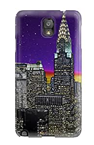 Rugged Skin Case Cover For Galaxy Note 3- Eco-friendly Packaging(new York City Landscape)