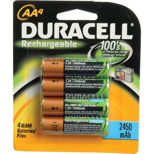 Duracell AA NiMH rechargeable blister pack, 4 per pkg. 2450mAh by Duracell