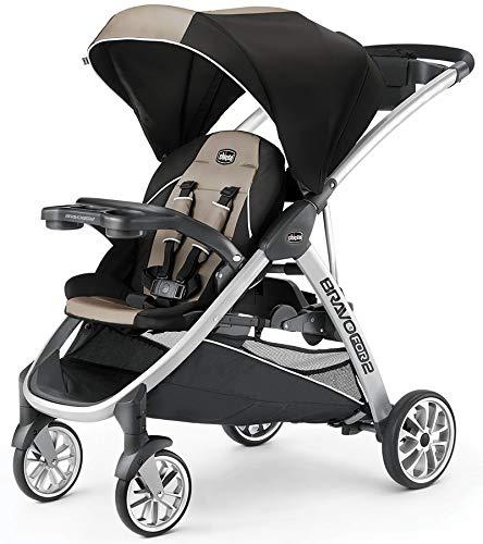 Chicco BravoFor2 Standing/Sitting Double Stroller, Zinc