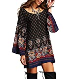 Women Dress,Tootu Women's Long Sleeve Vintage Party Beach Dress Casual Vestidos (XL, Multicolor)