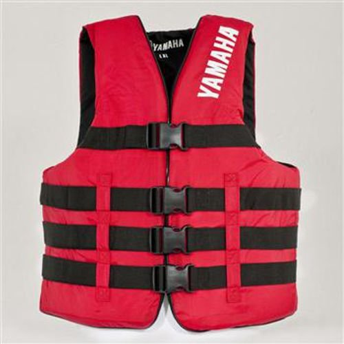 - OEM Yamaha Nylon Value 4-Buckle Life Jacket Vest PFD Red Large/X-Large