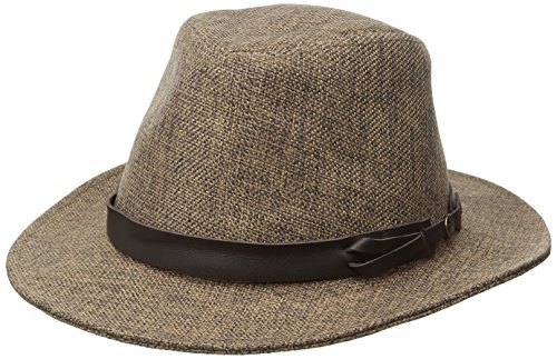 Goorin Bros. Women's Kendo Jute Fedora Hat, Brown, Medium