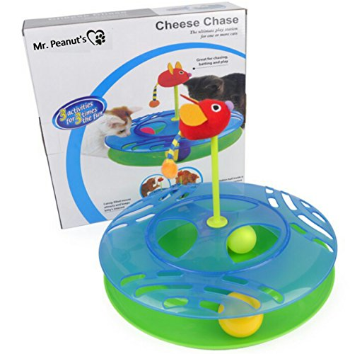 Mr. Peanut's Cats & Kittens Toy with Interactive Intelligence Track Ball Tower - Provides Hours of Mental Stimulation and Physical Play