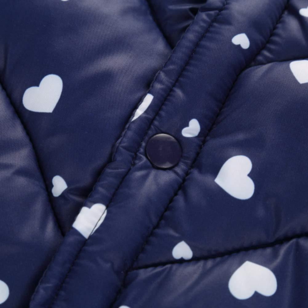 Enfants Hiver Chaud Douce Coton sans Manche Gilet Vests Manteaux et Blousons V/êtements Fille 1-5 Ans Miyanuby Doudoune Pulls et Gilets B/éb/é Fille