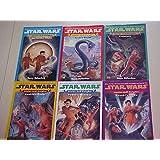 Star Wars Junior Jedi Knights Complete Set 1-6 Pb Golden Globe, Lyric's World, Promises, Anakin's Quest, Vader's Fortress, Ke