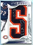 2009 William Perry SP Authentic By the Letter S #13/14 Chicago Bears Patch AUTO