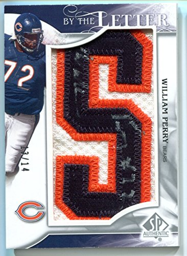 59a7b3d750f 2009 William Perry SP Authentic By the Letter S #13/14 Chicago Bears Patch