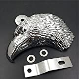 Chromed Eagle head horn cover For 1992 and up Harley-Davidson with side mount ''cowbell'' and all V-rod's