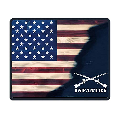 Army Infantry Branch Insignia Military Mouse Pads Non-Slip Gaming Mouse Pad Mousepad for Working,Gaming and Other Entertainment