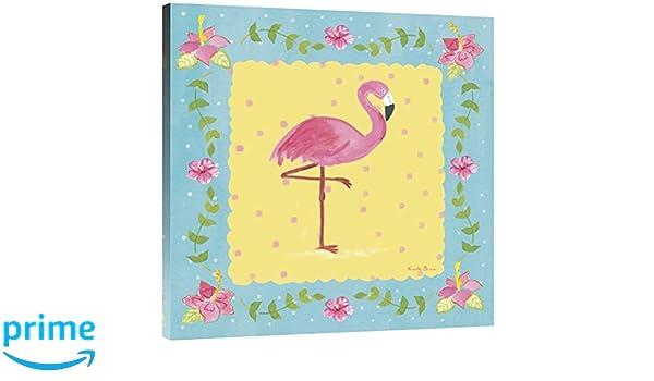 Global Gallery Farida Zaman Flamingo Dance II Giclee Stretched Canvas Artwork 30 x 30
