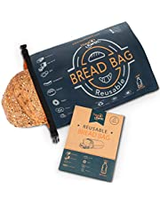 Reusable Bread Bag for Homemade Bread, Made from Recycled Plastic Bottles - Freezer-Safe Food Storage Bag with Double Lining to Preserve Freshness - Premium Bakery Supplies