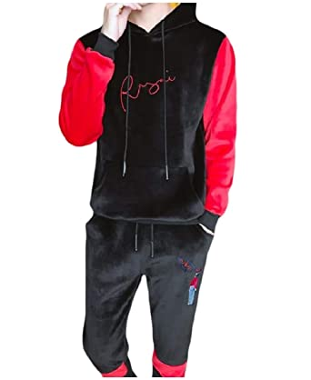 28b5824c88 NestYu Men Pullover Assorted Colors Hooded Thick Active Tracksuit ...