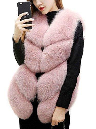 引き潮請求可能図[CHOiES record your inspired fashion] [Women`s Faux Fur Coat Vest Party Fur Waist Coat] (並行輸入品)