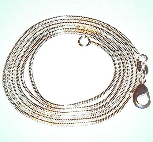 (Snake Chain Lobster Clasp Silver-Plate Chain Necklace For Women 28