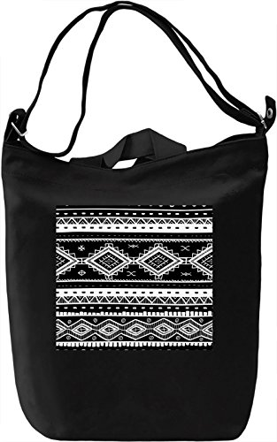 Folk Motifs Texture Borsa Giornaliera Canvas Canvas Day Bag| 100% Premium Cotton Canvas| DTG Printing|