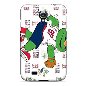 High Quality Cell-phone Hard Covers For Samsung Galaxy S4 (WIY8085QAeI) Support Personal Customs HD Boston Red Sox Image