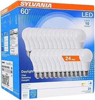 24-Pack Sylvania 8.5W (60W Equivalent) A19 LED Light Bulbs