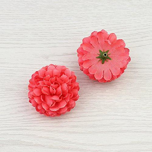 Flower Watermelon - FLOWER 30pcs 5cm Silk Carnation Artificial Pompom Head Mini Hydrangea Home Wedding Decoration DIY Wreaths (Watermelon red)
