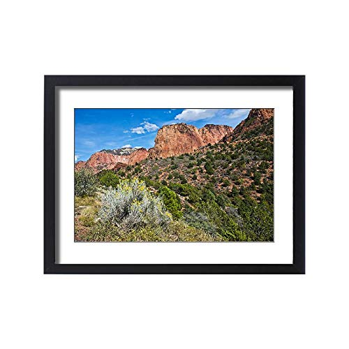 Media Storehouse Framed 24x18 Print of Kolob Canyon, Zion National Park, Utah, USA (18246043)