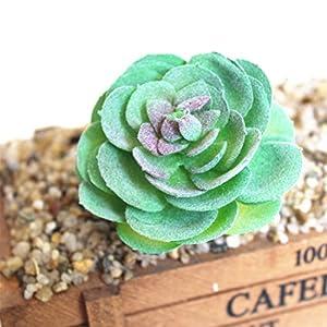 Idealcoldbrew 6 Pcs Artificial Succulent Plants, Realistic Fake Plastic Green Aloe Succulents Bundle, DIY Home Wall Garden Decoration Office Gifts 4