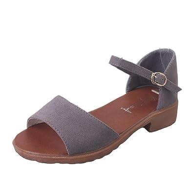 Frauen Süße Mode Sandalen Böhmen Blumen Strand Schuhe Flache Elastische Sandalen,Grey-EU:39/UK:6.5