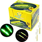 thkfish Fishing Glow Sticks Rod Tip Glow Sticks Fishing Rod Floats Glow Stick Fishing Rod Night Fishing Light Fishing Green Fluorescent Light 100pcs(50bags) #L
