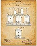 beer artwork - Brewing Beer And Ale Patent - 11x14 Unframed Patent Print - Great Gift for Home Brewers, Home Bars or Man Cave Decor
