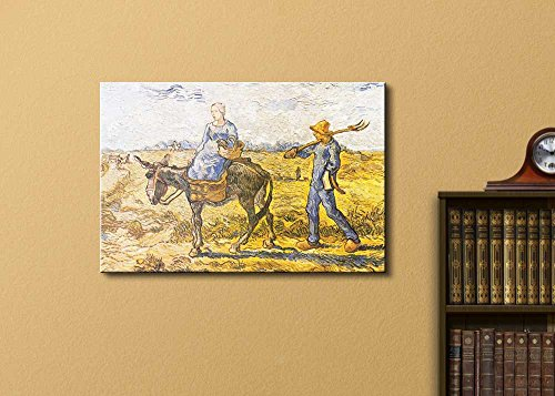 Morning: Peasant Couple Going to Work (After Millet) by Vincent Van Gogh Oil Painting Reproduction