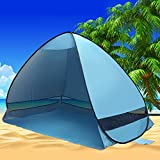 Instant Pop Up Portable Beach Tent Canopy UV Sun Shade Shelter Outdoor Camping Fishing Cabana Mesh 190T (Blue) Review