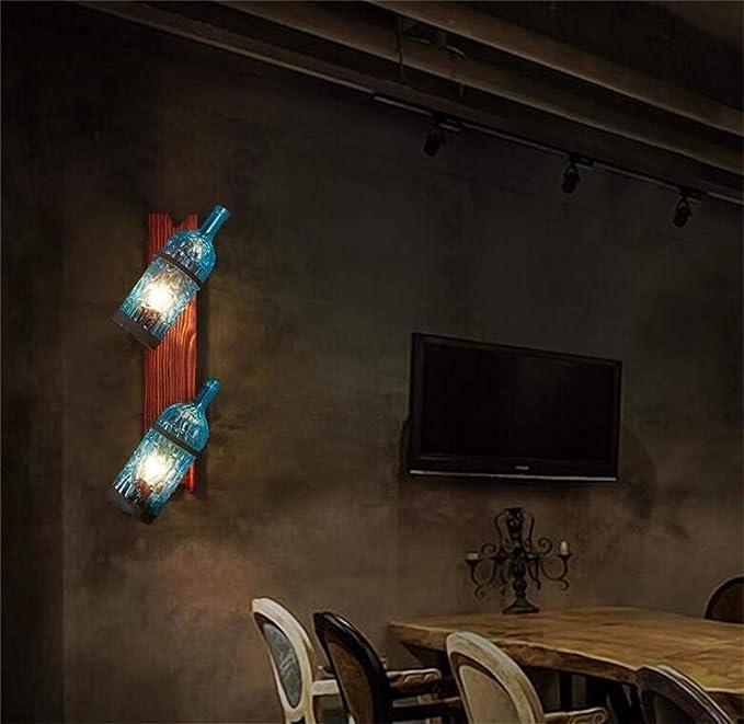 SED Lámpara de Pared Lámpara de Pared Luces Decorativas Dormitorio Pasillo Botella Personalizada Restaurante mediterráneo Café Color Decorativo Retro Industria de Ocio Pared Luz doméstica,Azul: Amazon.es: Deportes y aire libre