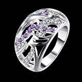 by lucky New 18K White Gold Purple Jewelry Womens 925 Silver Engagement Wedding Ring Gift (6)