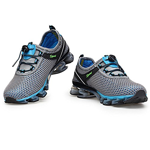 Univers Land Men's Running Athletic Shoes - Breathable Mesh Quick Drying Outdoor shoes Sport shoes Gris