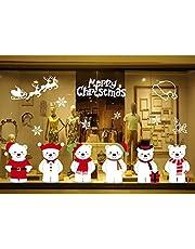 ASR Kerstman sneeuwman eland kerstboom venster sticker Kerstmis PVC sticker 50 * 70cm